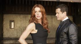 Unforgettable - (1. Staffel) - Gemeinsam versuchen Detective Carrie Wells (Poppy Montgomery, l.) und Detective Al Burns (Dylan Walsh, r.), Verbrechen das Handwerk zu legen ... © Sony Pictures Television Inc. All Rights Reserved.