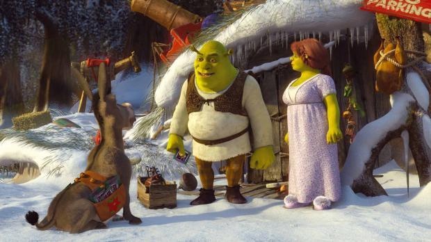 Obwohl Shrek wirklich überhaupt kein Interesse an Weihnachten hat, versucht e...