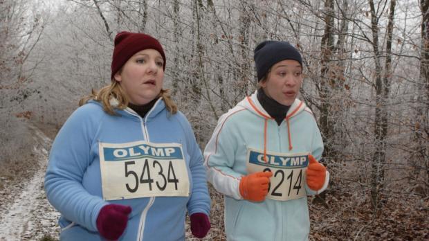 Die beiden Teilnehmerinnen (Mackie Heilmann, l.; Sabine Menne, r.) des Marath...