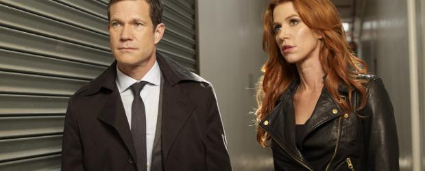 Unforgettable - (1. Staffel) - Gemeinsam gehen sie auf Mörderjagd: Detective Carrie Wells (Poppy Montgomery, r.) und Detective Al Burns (Dylan Walsh, l.) ... © Sony Pictures Television Inc. All Rights Reserved.