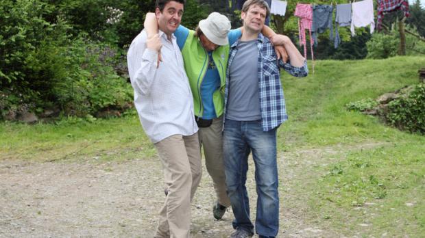 Was ist nur mit Bastian (Bastian Pastewka, l.), Hagen (Matthias Matschke, r.)...